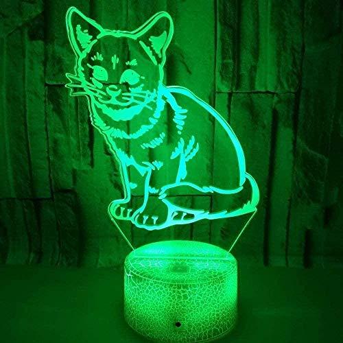 3D LED Nachtlicht Fox Colourful Touch Kleine Tischlampe Bunte USB-Leuchten