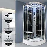 <span class='highlight'>Insignia</span> Steam <span class='highlight'>Shower</span> Cabin Enclosure 1000x1000 Body Jets Platinum Chrome Frame