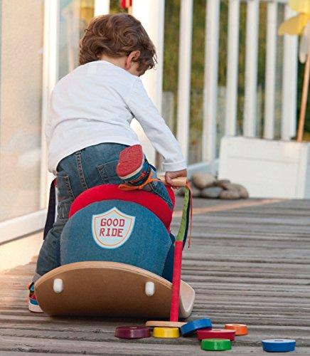 roba Schaukelmotorad, Schaukelspielzeug mit weicher Stoff-Polsterung, Schaukelsitz für Kleinkinder ab 18 Monate - 6