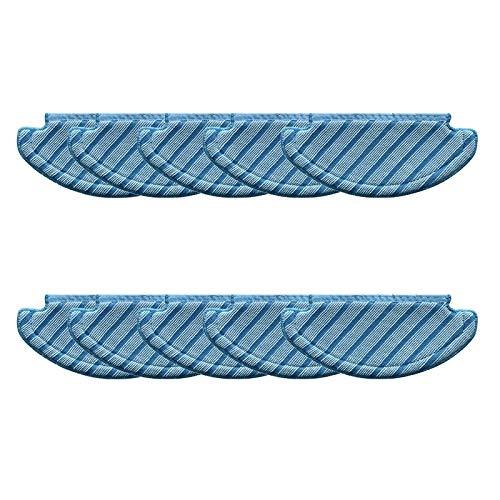 Almohadilla De Aspiradora Mejores Ofertas 10 unids Paños de MOP Pads de Limpieza Compatible con Ecovacs Deebot Ozmo T8 AIVI Accesorios de aspiradora Aspiradora Tela trapeador (Color : Blue)