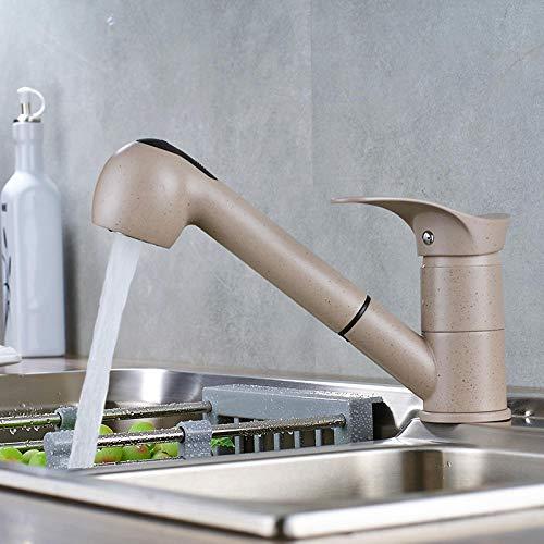 Chongyang - Grifo de cocina con grifo giratorio de 360 grados, color beige
