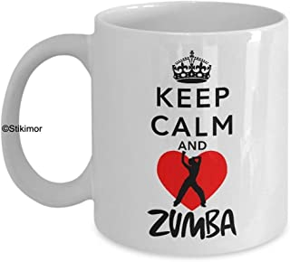 Keep Calm And Love Zumba Coffee Mugs - Ultimate Ideal Quality Super Cool Gifts By Stikimor