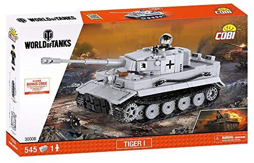 Wargaming - Tiger I, Tanque, Color Gris (COBI 3000)