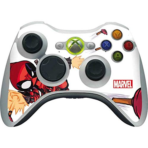 Skinit Decal Gaming Skin Compatible with Xbox 360 Wireless Controller - Officially Licensed Marvel/Disney Deadpool Baby Fire Design