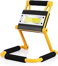 Luz de Trabajo LED Recargable, Plegable Foco LED Portátil Exterior, 4 Modos, 6000K Blanco Frío, 360°Giratorio, Super Brill...