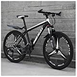 Unbekannt Mountain Bikes, 26-Zoll-High-Carbon Stahl Hardtail Mountainbike, Berg Fahrrad mit Federung vorne Adjustable Seat,Schwarz,30speed
