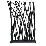 Atypik Home Paravent en Branche de Teck Noir Total de 115 x 180 x 25 cm