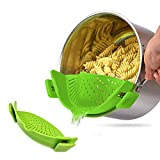 Clip on Strainer, Silicone Food Strainer Fit Most Pots, Pans and Bowls, Heat Resistant Strainer with...