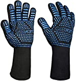 "GEEKHOM BBQ Cooking Grill Gloves, 14"" Extreme Heat Resistant Kitchen Gloves, EN407 Protect"