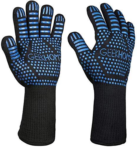 GEEKHOM Guantes Horno, Guantes de Cocina, Oven Gloves, 33cm