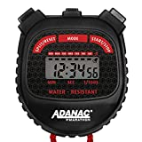Marathon ADANAC 3000 Digital Stopwatch Timer, Water Resistant, Battery Included (Black/Red)
