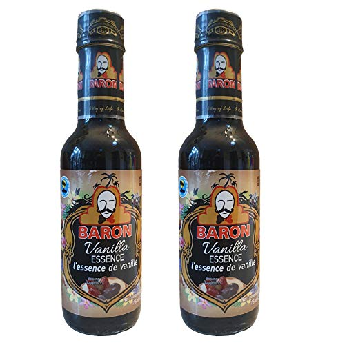 Baron Vanilla Essence 155ml 1 2 or 6 Pack for Baking, Cocktails, Drinks, Desserts & Cooking (Two Pack)