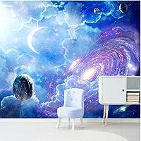 Iusasdz カスタム壁紙3D壁画ファンタジー宇宙星空天井壁画リビングルーム寝室レストラン3D壁紙-350X250Cm