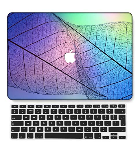 GangdaoCase Plastic Ultra Slim Light Hard Shell Case Cut Out Design Compatible New MacBook Pro 15 inch with Touch Bar/Touch ID with UK Keyboard Cover A1707/A1990 (Colorful B 13)