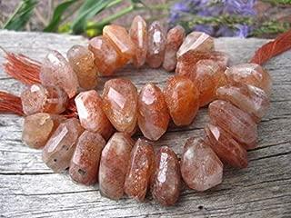 Jewel Beads Natural Beautiful jewellery Sunstone Nuggets - semiprecious gemstone - Chunky Organic Nuggets - 8 inches 15mm X 8mmCode:- BB-43878