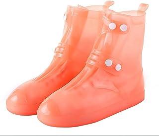 SYLOZ Reusable Non-Slip Rubber Shoes, Waterproof Shoe Covers, Outdoor Rainproof Silicone Shoe Covers (Color : Orange, Size : XL)