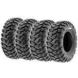 Set of 4 SunF A043 XC Racing ATV UTV Radial Sport Tires 25x8R12 Front & 25x10R12 Rear, 6PR, All-Terrain Off-Road & Track