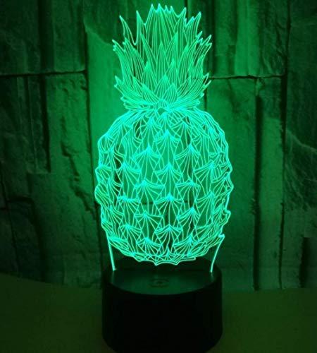 3D ananas tafellamp creatieve ananas nacht licht led driedimensionale licht multi-kleur verandering Touch afstandsbediening lamp
