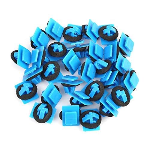 uxcell 30pcs Plastic Rivet Blue Bumper Fender Fastener Clips Retainer for Hyundai for Kia 87756-1F000