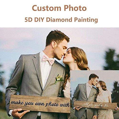 Personnalisé Personnalisé DIY 5D Diamant Peinture par Nombre Kits Full Drill Broderie Peintures Photos Arts Artisanat pour la Maison Mur Décor
