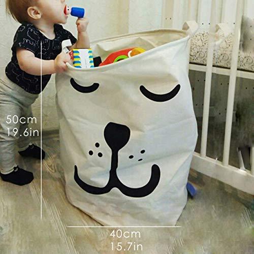 Wasmand LKU Tyvek wasmand canvas speelgoed opbergdoos splicing flexibel fineer kraft papieren zak, slaaphond, groot