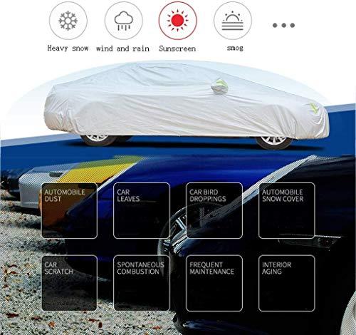 Compatible con polvo de T-Oyo-ta RAV4 cubierta del coche al aire libre cubierta de tela Oxford coche encerado de coches Ropa de protección solar UV de aislamiento resistente a los arañazos for cualqui