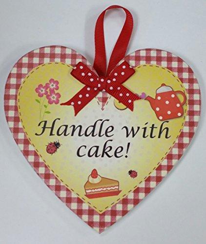 Poignée avec gâteau nommé personnalisé en forme de cœur Kitchen Plaque magnétique par Sterling effectz