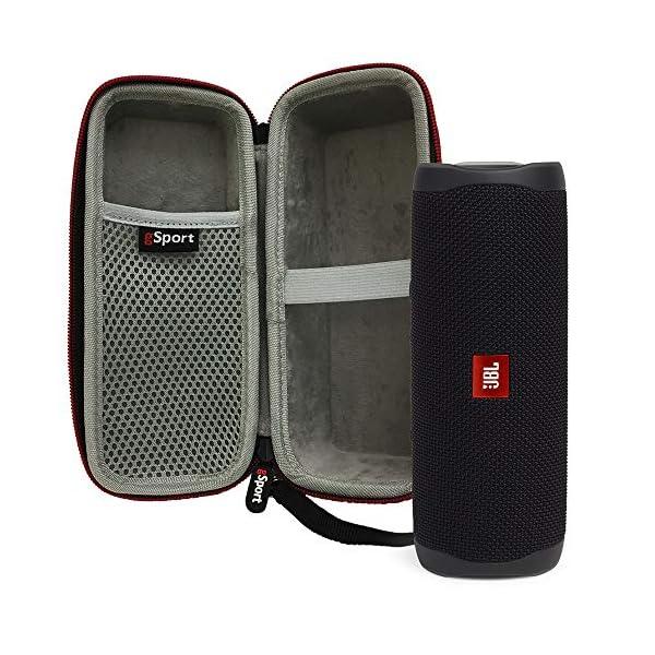 JBL FLIP 5 Portable Speaker IPX7 Waterproof Bundle with gSport Deluxe Hardshell Case (Multiple Colors) 4