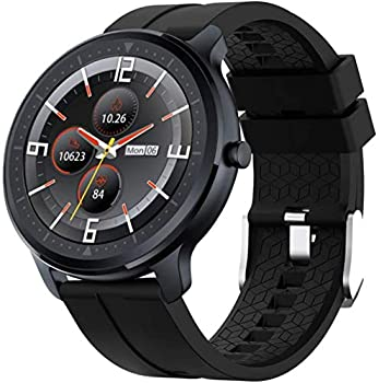 OUTAD Smart Watch with 24h Heart Rate Blood Oxygen Pressure Sleep Monitor For Android Phone iPhone IP67 Waterproof Fitness Tracker Step Pedometer Bluetooth Music Control Notification Reminder Black
