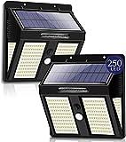 2 Paquetes Lámpara Solar Recargable Luz Solar Exterior Jardin 250 LED / 3...