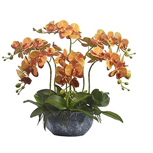 JIEZ Delicado Conjunto de Ramo de Flores Artificiales para Mezclar y Combinar, Maceta de arreglo Floral para Sala de Estar, Mesa de Comedor, Oficina, Boda,