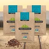 Tres Pontas: Whole Bean Coffee 12oz (Dark Roast, 12 oz (3-Pack))