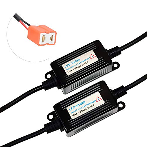 SOCAL-LED 2x H7 LED Decoder Upgraded Strong Canbus Error Code Warning Canceller Anti Flicker Relay Adapter