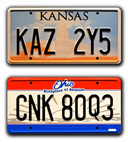 Metal Stamped License Plates