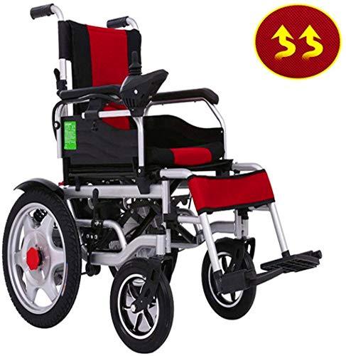 Elektrorollstuhl Elektro-Rollstuhl Motorisierte faltbare, Doppel-Motoren, Doppelbatterie-bewegliche elektrische Rollstühle for Übergewichtige ältere und behinderte Menschen, leistungsfähige Dual-Motor
