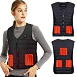Lyeiaa Heated Vest for Men Ladies, Electric Heated Jacket with USB Charging Heated Vest, Washable Warm Heat Jacket