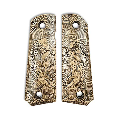Browning 1911 22 & 380 Wood Grips - Celtic Heart