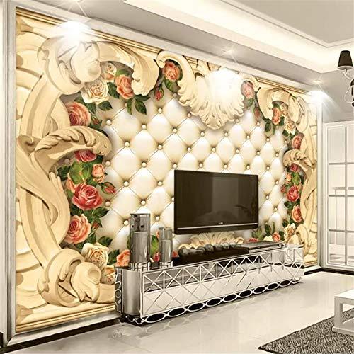 Avikalp Exclusive AWZ0174 3D Wallpaper Mural Continental Border Luxury Soft Bags Rose Background Wall Fresco HD 3D Wallpaper(548cm x 304cm)