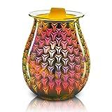 JDKC- 3D Art Glass DesignD Scaldacera Elettrico, Bruciatore per Crostate per la Casa, L'Ufficio, L'arredamento della Camera da Letto, Scalda Olio Essenziale Aromatico per Cera Fondente