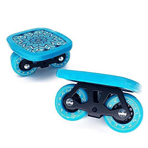 mengooo Driftboard Split Skateboard Roller Cruiser Ahorn Skateboard Mobilität Extremsport-Blau (Fortgeschrittene)