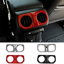 Highitem Car Armrest Box Air Conditioning Outlet Decoration Cover Trim Sticker Car Accessories Styling for Jeep Wrangler JL 2018 Up (Red)