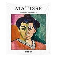 タペストリー サイケデリックマティスは、プリントリビングルームの装飾小タペストリーのホームインテリア絵画ウォールカラフルなアーティスト絵画 (Color : 6, Size : 95x73cm)