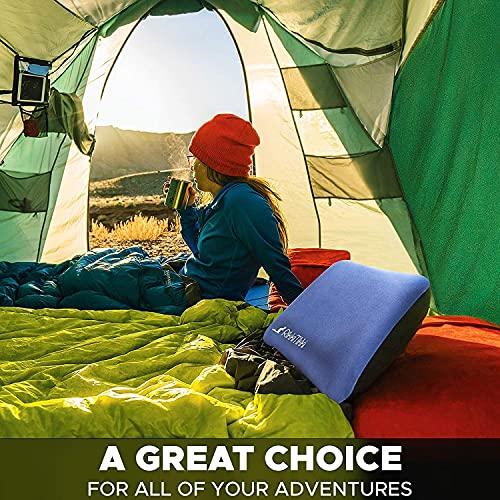 Inflatable Camping Pillow - Hiking Pillow Ultralight - Backpacking Pillow Lightweight - Camp Pillow Compressible - Blow Up Camping Pillow (Blue)