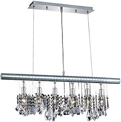 Saint Mossi Modern K9 Crystal Linear Raindrop Chandelier Lighting Flush mount LED Ceiling Light Fixture Pendant
