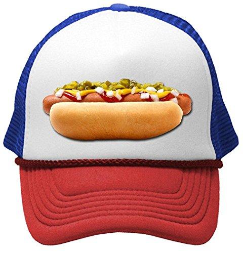 HOT Dog - Concession Truck fair Carnival Snack Food Mesh Trucker Cap Hat, RWB