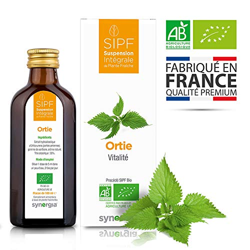 Ortie bio français Solution buvable de plantes fraîches Vitalité Origine France certifiée Certifié AB