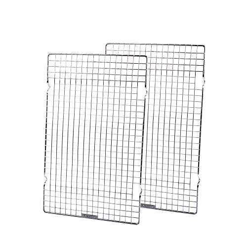 Baking Rack Commercial Grade cooling racks for baking ThickWire wire rack bakinges Nontoxic for Roastinges baking rack for oven Safe wire coolings rack upgrade 10quot×16quotSet of 2Silver