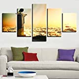 LWEEHNF Frameless Canvas Pictures Living Room Decor 5
