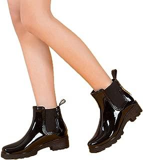 MEIGUIshop Rain Boots - Short Tube Elastic Shoes Non-Slip rain Boots Rubber Shoes