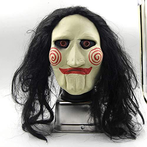 JNKDSGF Horror maskJigsaw Griezelig Enge Halloween Clown Masker Rubber Latex Jig Saw Clown Film Cosplay Props Volwassen Party Fancy Dress Maskers
